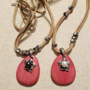 Vantel Pearls Pink Bohemian Necklaces